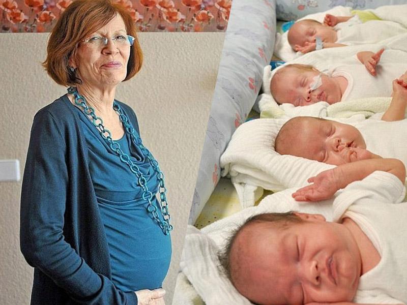 65-летняя мать 13 детей родила четверню…Невероятная история!