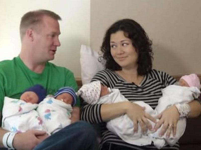 В Огайо родилась самая необычная четверня в мире