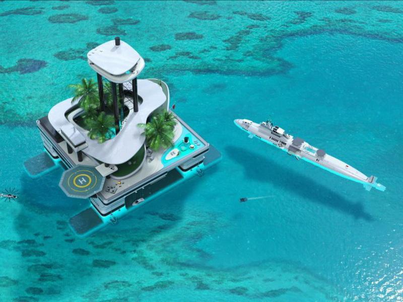 Остров-яхта – новая роскошь для миллиардеров