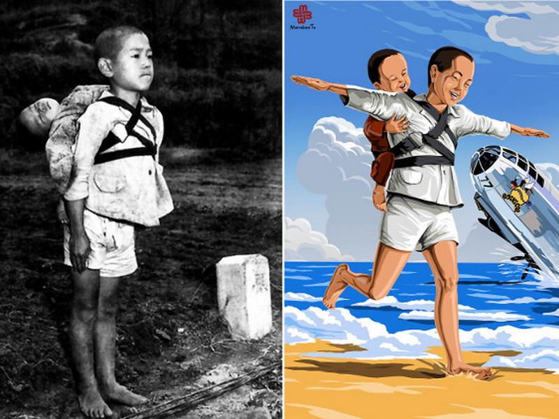 Дети войны: художник рисует прекрасное будущее, которого у них никогда не будет