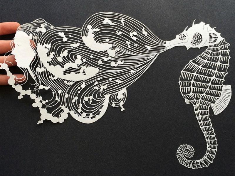 Магическое искусство из обычного белого листа бумаги