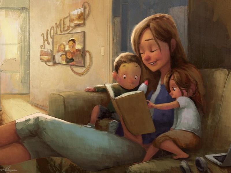 17 рисунков, которые до краев наполнены любовью к нашим мамам!