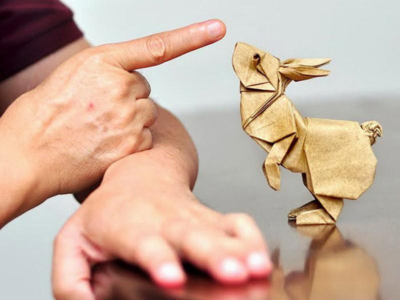 16 великолепных бумажных скульптур в технике оригами