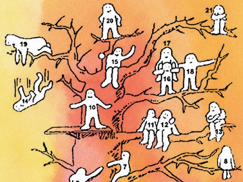Выберите одного из человечков на дереве и узнайте правду о своем эмоциональном состоянии