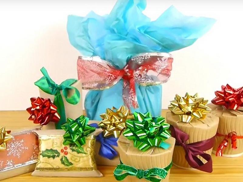 4 простых способа красиво упаковать новогодние подарки