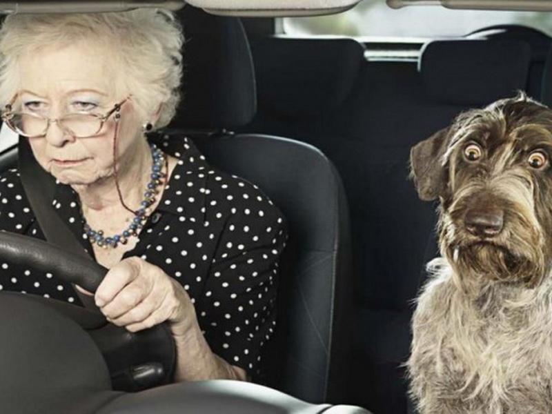 Однажды полицейский остановил пожилую женщину за превышение скорости…