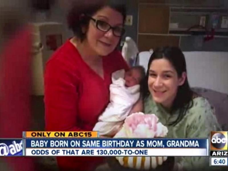 Женщина родила дочку в свой день рождения. Но это еще не самое удивительное!