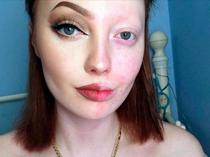 Девушка без макияжа фото смешное