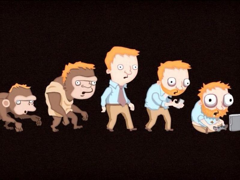 Смешные (и не очень) картинки, наглядно демонстрирующие процесс эволюции