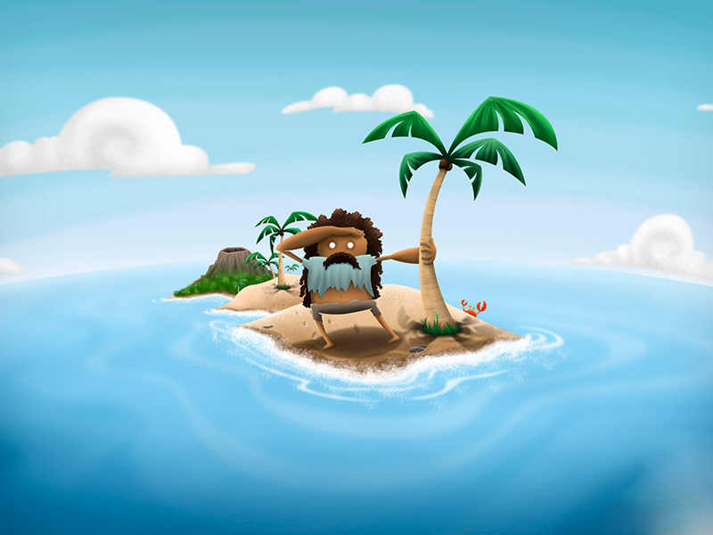 Однажды мужчина оказался на необитаемом острове…