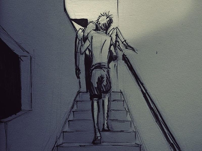 Мужчина создает рисунки, посвященные каждому дню, который он проводит с любимой женой