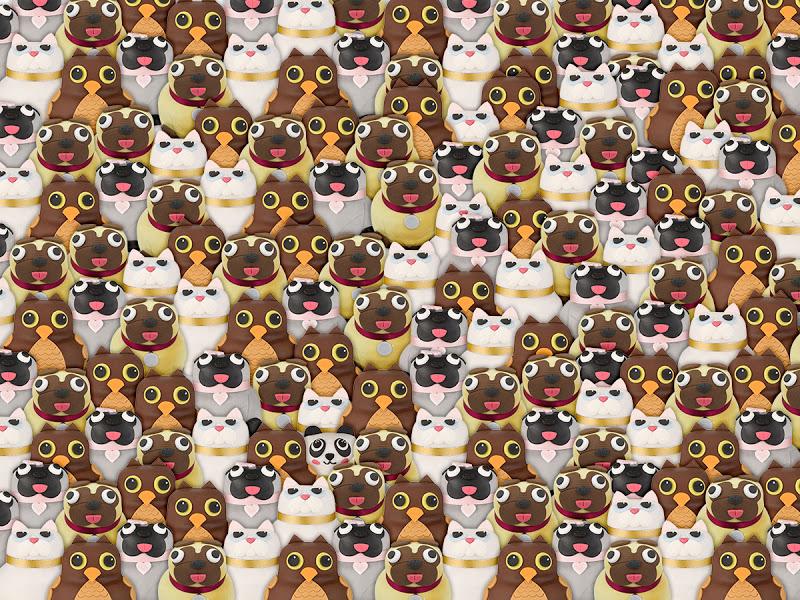 Кошки, собачки и совы… А вы сможете найти здесь панду?