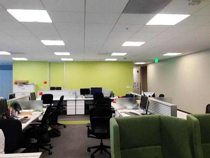Сотрудники устали от серых стен своего офиса и решили украсить их стикерами!