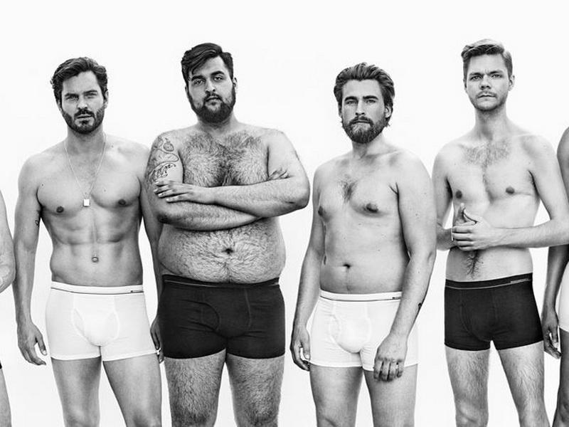Вот что получится, если моделей из рекламы мужского белья заменить на обычных мужчин