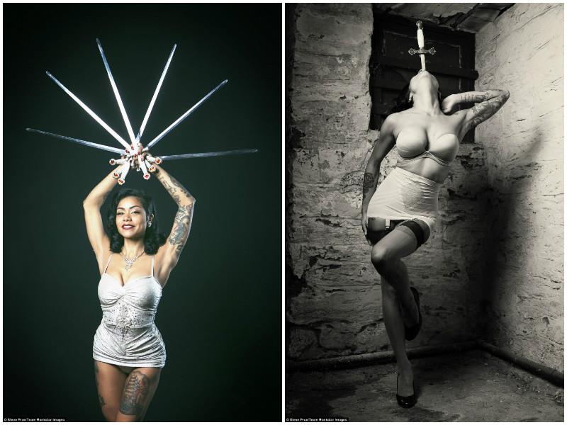 Удивительная женщина, которая глотает мечи
