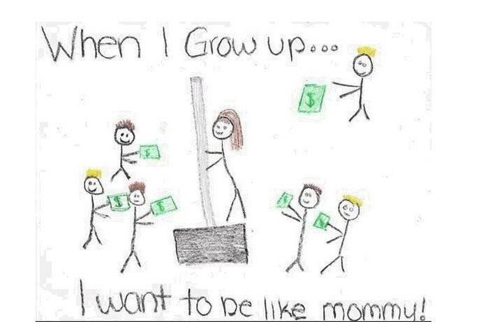 Рисунок мамы которая в школе
