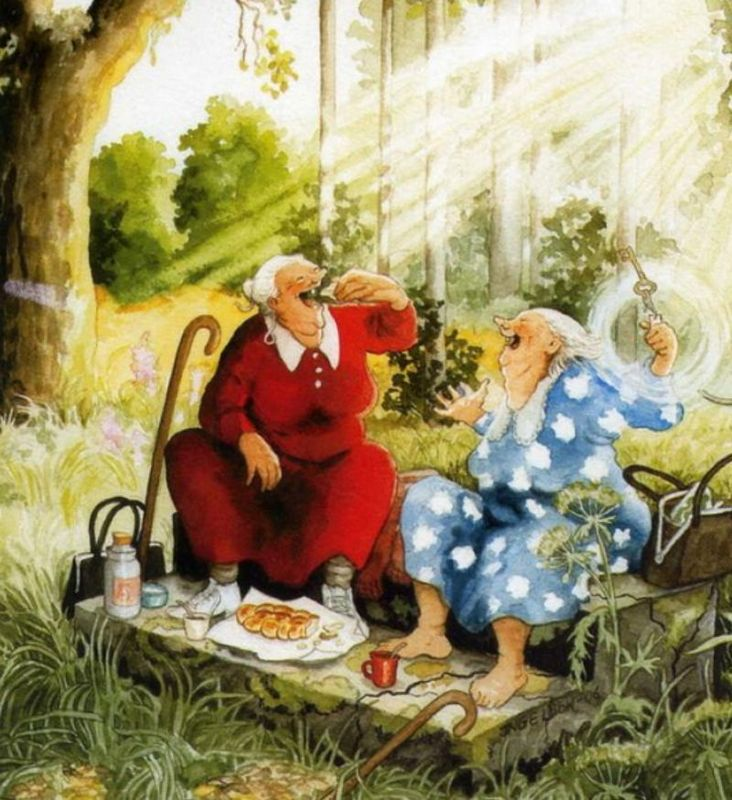 Руз и Гильда интересовались своим новым соседом. Что же он им рассказал?