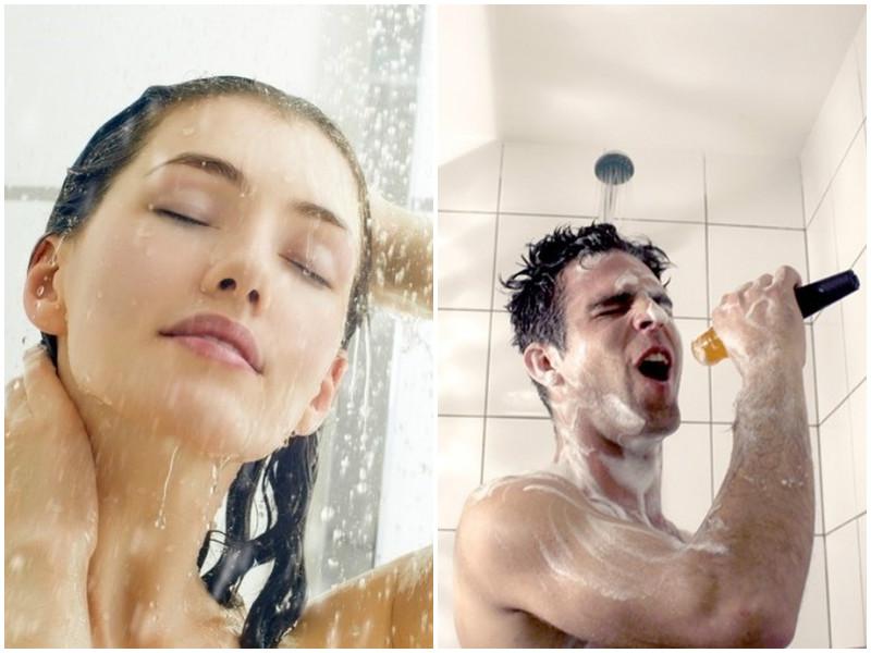 Как принимают душ женщина и мужчина