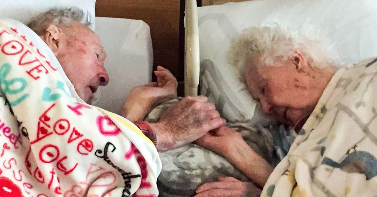 Эта пара была вместе на протяжении 77 лет, посмотри как он прощается с ней в последний час её жизни