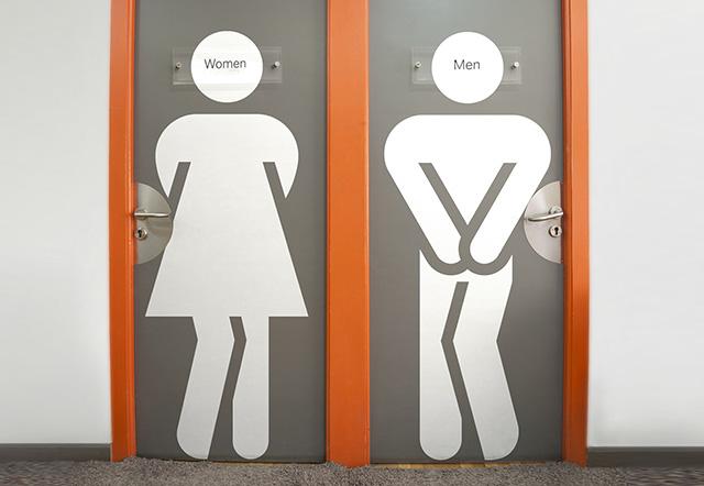 Забавнейший  неловкий случай в рабочем туалете