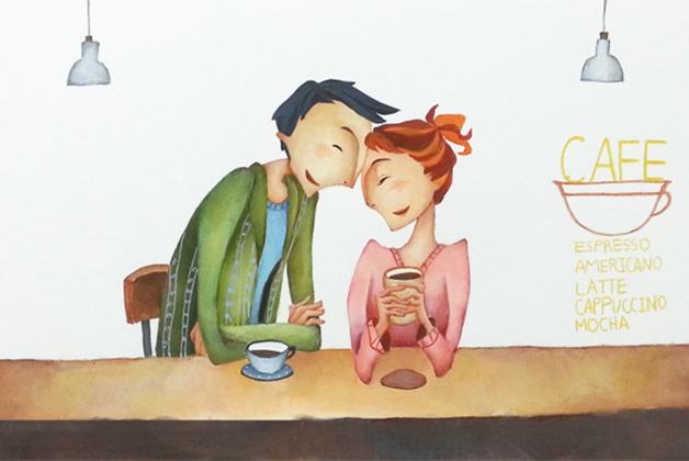 Трогательная история о молодой паре в кофейне