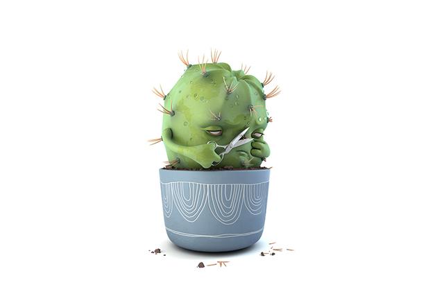Смешнейший казус с кактусом, приключившийся с одной бухгалтершей