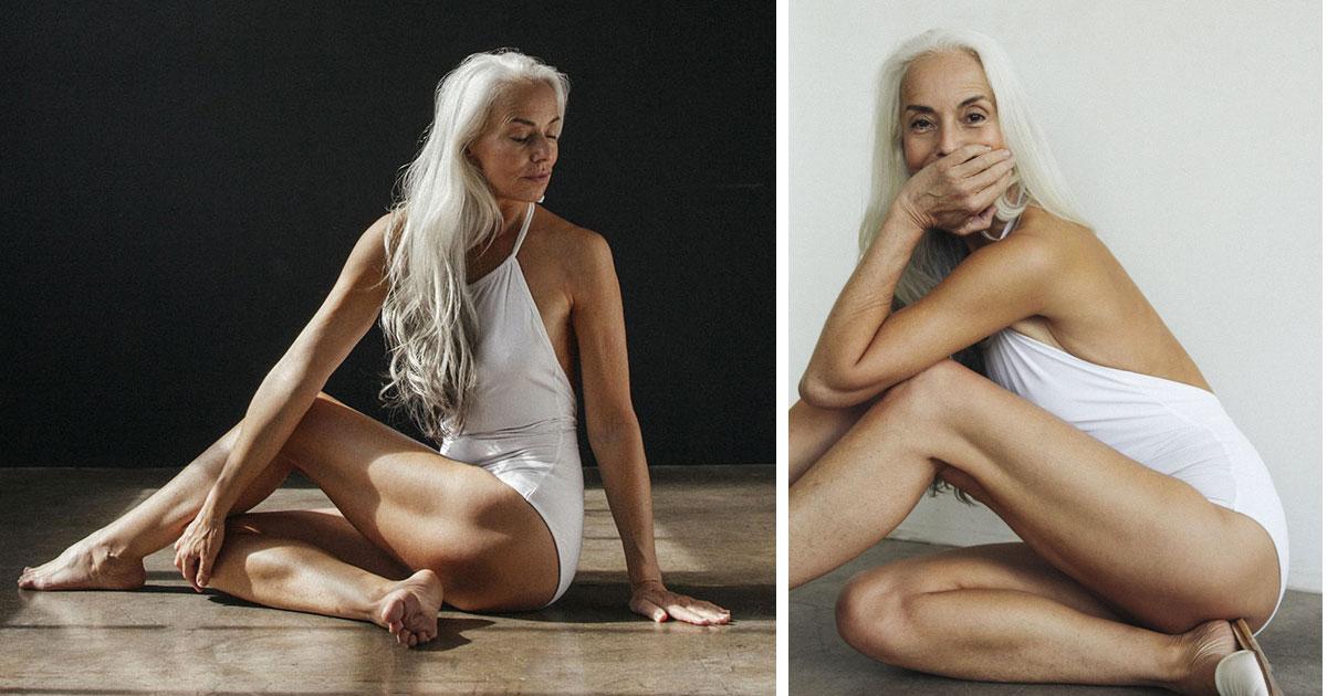 61-летняя модель не стыдится своего возраста и становится потрясающей моделью купальников. Вот ее секрет!