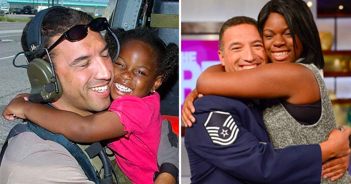 Ветеран ВВС спасает девочку от урагана Катрина. 10 лет спустя, они снова встречаются. Это удивительно!