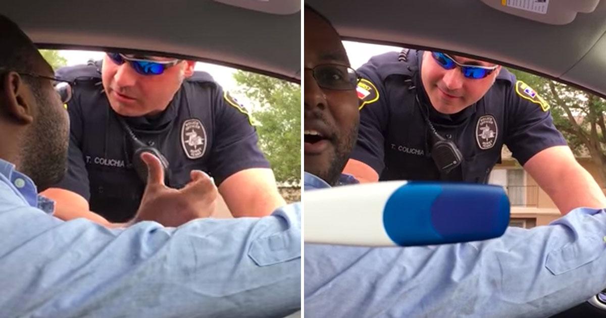 Офицер останавливает мужчину за отсутствие детского автокресла. Затем он видит тест жены на беременность – это так мило!