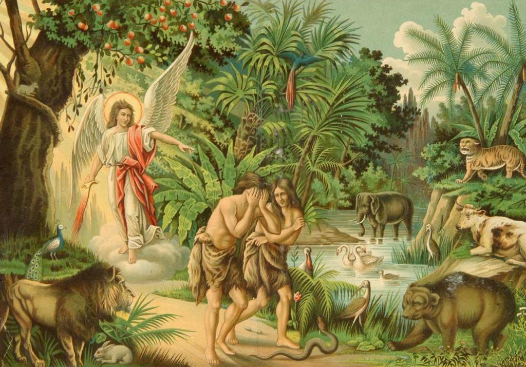 Детям рассказали историю Адама и Евы и попросили проиллюстрировать, как они это поняли. То, что нарисовал этот мальчик – уморительно!