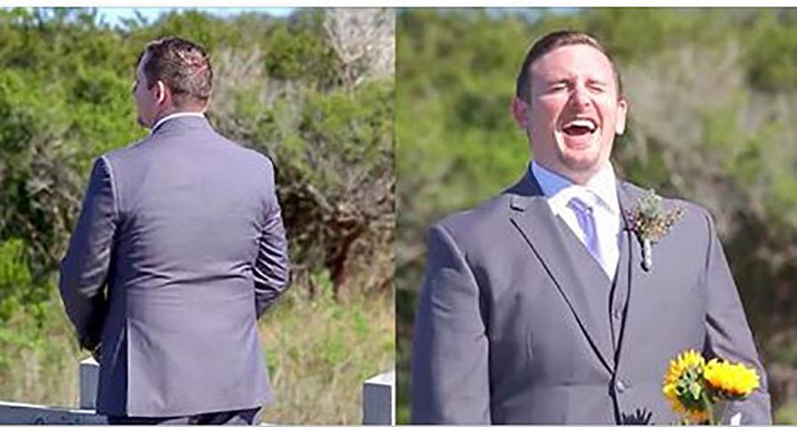 Жених ждет, чтобы увидеть невесту в день их свадьбы, но когда он оборачивается, то видит что она не надела свадебное платье!