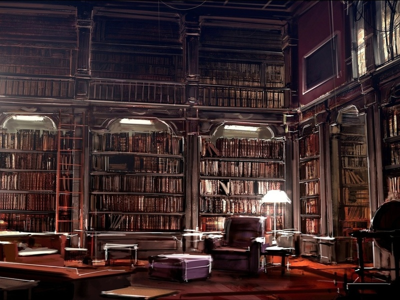 Женщина так заработалась в библиотеке, что..