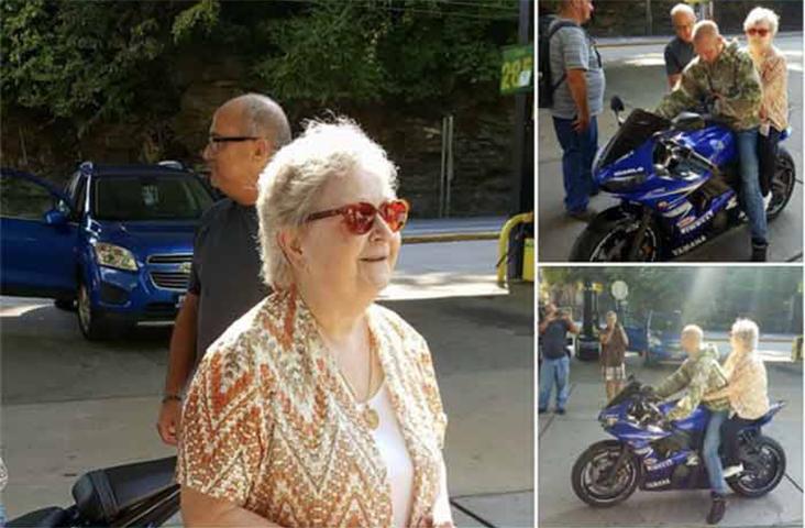 Раньше эта старуха никогда не ездила на мотоцикле, но это было в ее списке желаний. Эти байкеры сделали то, чего она никогда не ожидала!