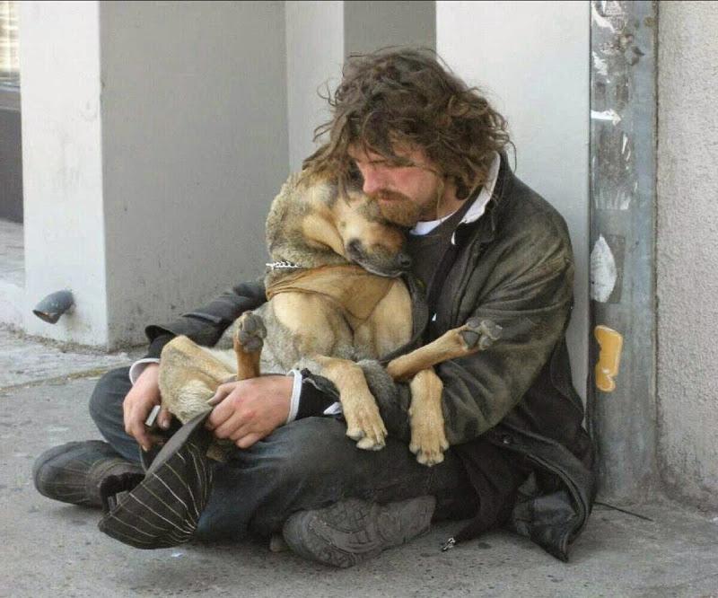 Этот парень заметил бездомного с собакой, который просил еду. То, что он сделал для них – заставит вас растрогаться!
