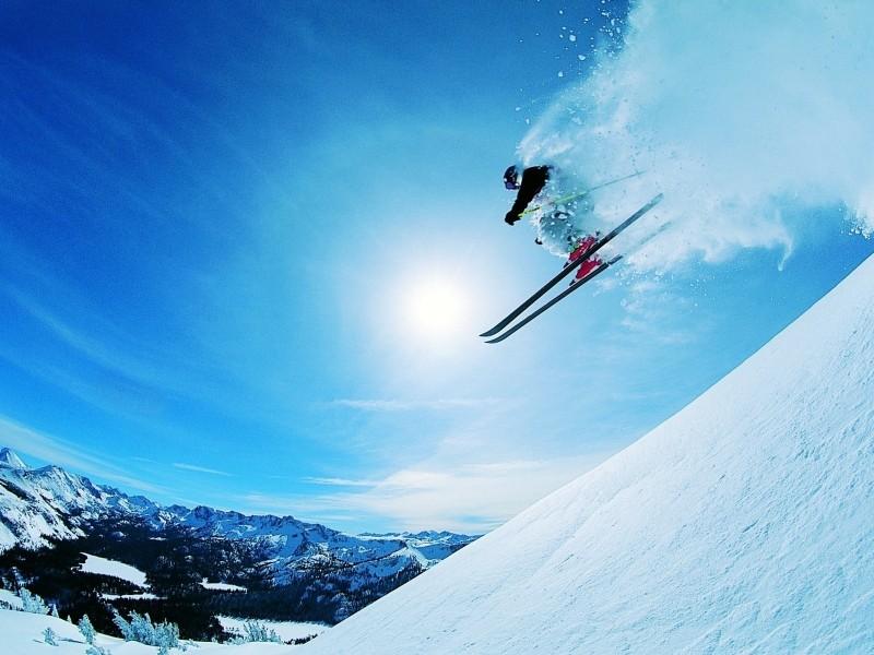Немного не так понял технику езды на лыжах!