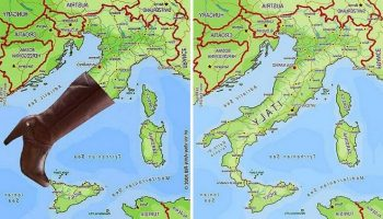 Разные Страны на карте мира — на что же они похожи?