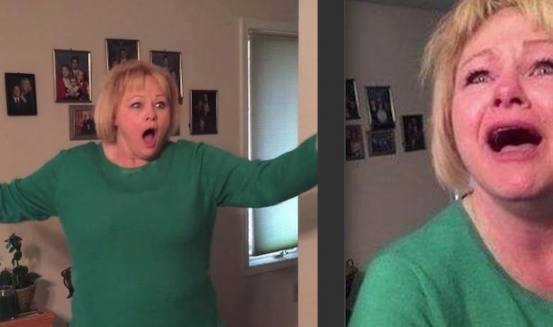 Смешная реакция мамы, которая поняла, с кем пришел домой её сын