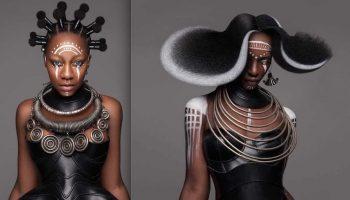 Невероятные афропрически, которые покорили жюри конкурса Всемирного искусства Стрижек