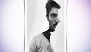 Психологический Тест: вы видите лицо мужчины спереди или в профиль?