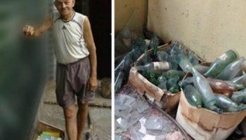 Соседи  друзья не могли понять, зачем он на протяжении 20 лет прятал бутылки у себя во дворе