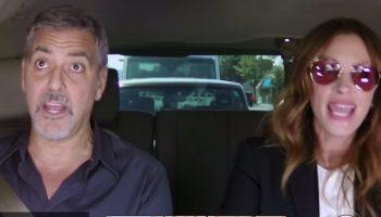 Пропустить это нельзя: Талантливый Джордж Клуни и прекрасная Джулия Робертс  вместе поют в авто