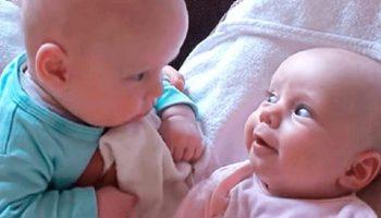 21 млн просмотров: смешной разговор 2 младенцев покорил Интернет!
