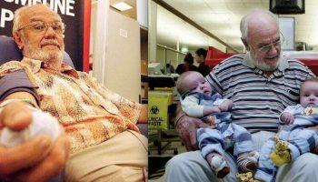 Просто волшебная кровь: Как один дедушка спас два миллиона деток