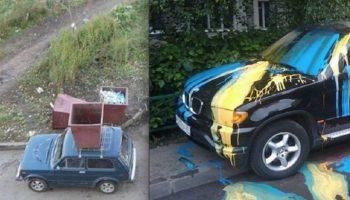 Что же бывает водителям и транспорту за хамскую парковку