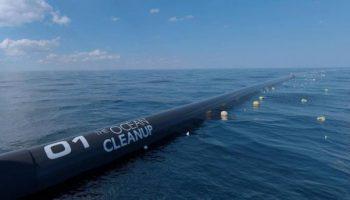 Время пришло! В США сегодня запускают Ocean Cleanup — систему очистки океана от пластика