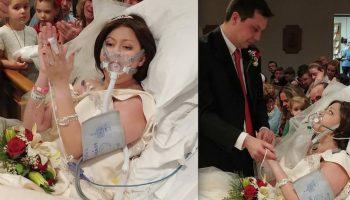 Свадьба в больнице: Пациентка, больная раком «встретила» свой последний праздник в палате