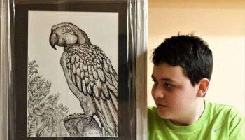 Этот мальчик из Сербии с 2 лет мечтал стать художником. Сейчас ему 16, и его работы вдохновляют