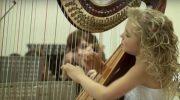 Невероятная игра на арфе от талантливой маленькой девочки