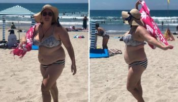 Девушка гуляла на пляжу, когда парни начали высмеивать ее фигуру