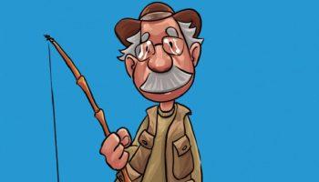 Пошёл как-то старик на рыбалку с друзьями, а вернулся очень злой